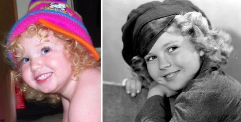 Morgan Shirley Temple'a benziyor.