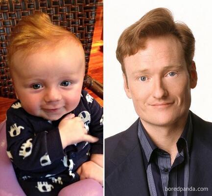 Bu bebek Conan O'Brien'e benziyor.