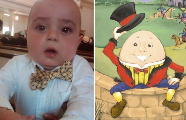 Minik Charlie, Humpty Dumpty'e benziyor.
