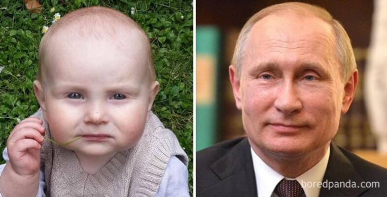 Minik, Vladimir Putin gibi düşünceli...