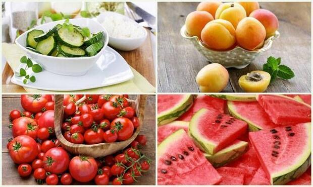 Selülit engelleyici yaz sebze ve meyveleri