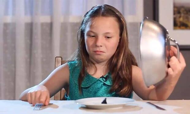 Çocukların lüks yiyeceklere tepkisi