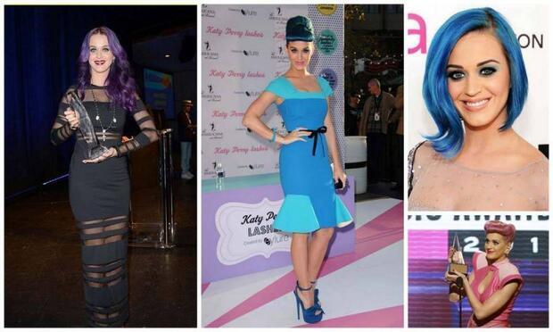 Katy Perry'nin saç stilleri