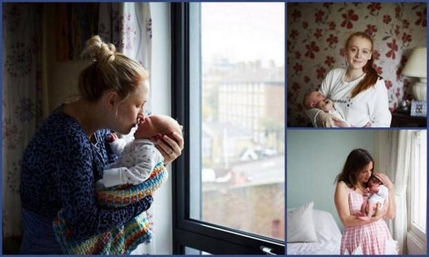 Yenidoğan bebekler ve annelerinin muhteşem pozları