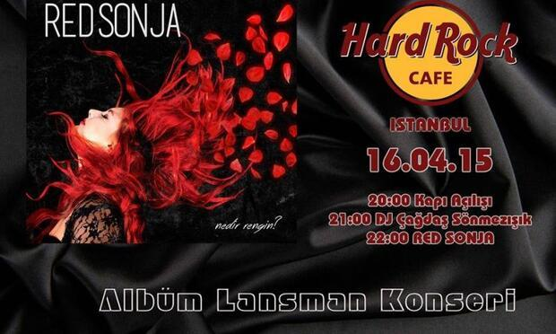 Red Sonja 16 Nisan'da Hard Rock Cafe'de!