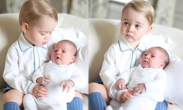 Prens George kardeşini dünyaya böyle tanıttı