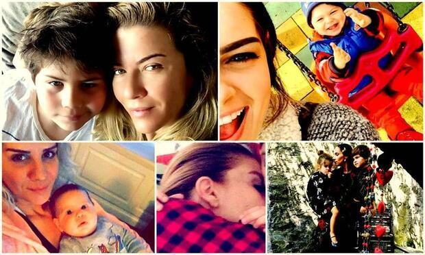Ünlü anneler ve ünlü çocukları Instagram'da!