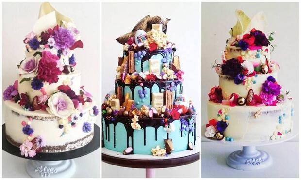 Gökkuşağı kadar renkli ve büyüleyici pastalar