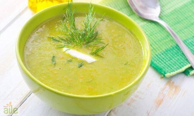 Bebekler için yeşil süt çorbası tarifi