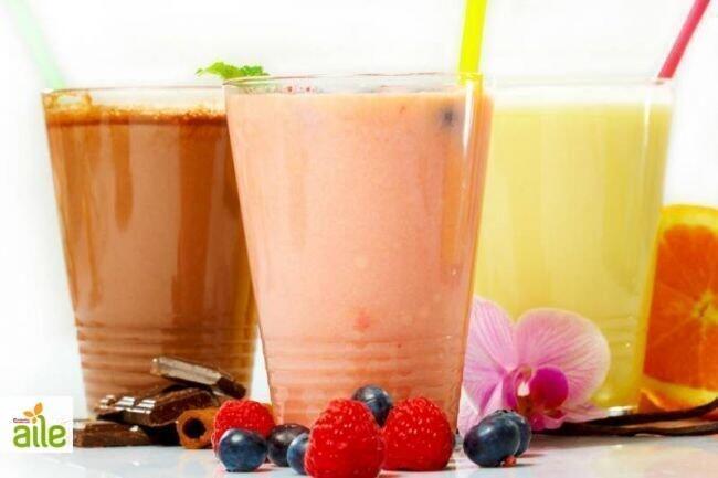 Meyveli süt tarifi