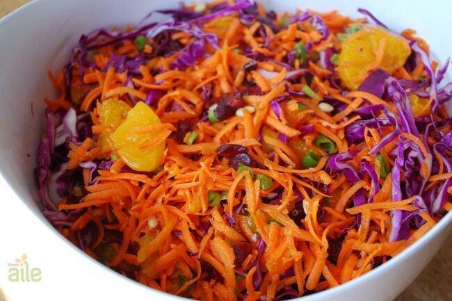 Karışık lahana salatası tarifi