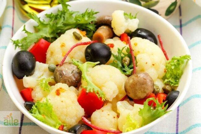 Soslu karnabahar salatası tarifi