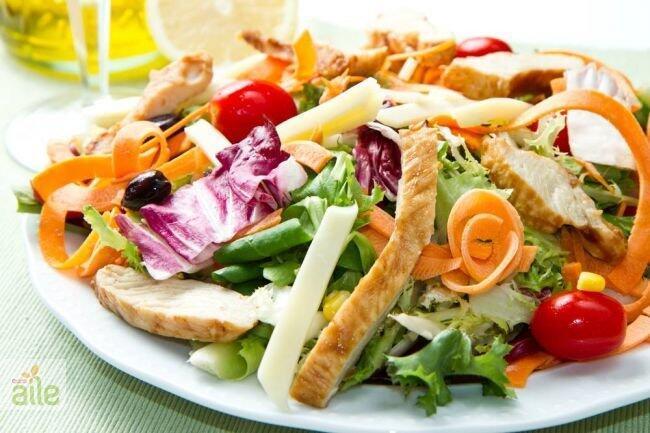 Portakal soslu akdeniz salatası tarifi