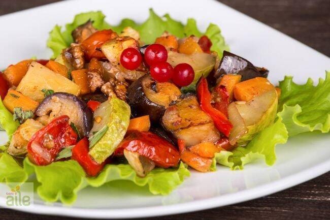 Patlıcan-kabak-biber kızartması tarifi