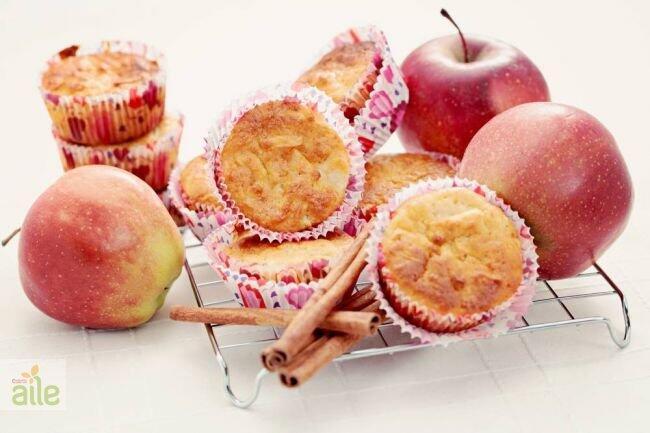 Elma, tarçın ve yulaflı muffin tarifi