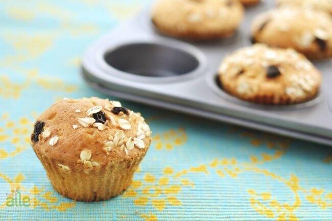 Hurma ve yulaf ezmeli muffin tarifi