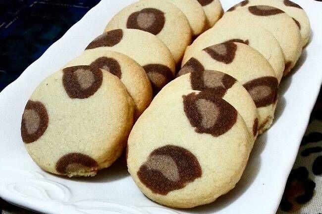 Leopar desenli kurabiye tarifi