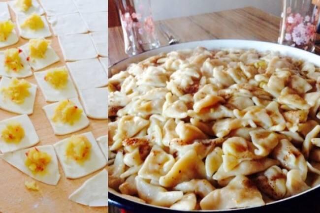 Hıngel (patatesli mantı) tarifi