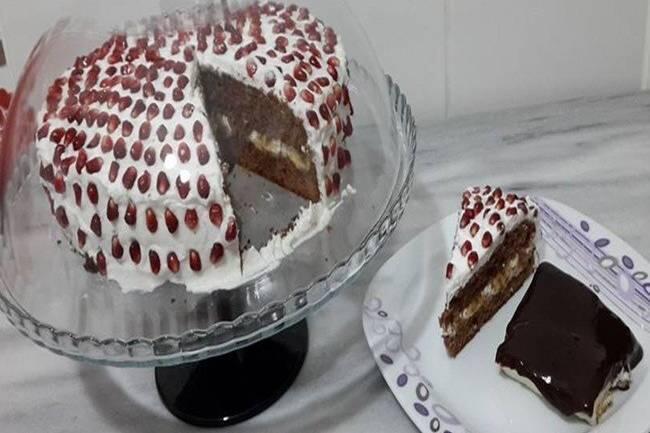 Nar taneli yaş pasta tarifi