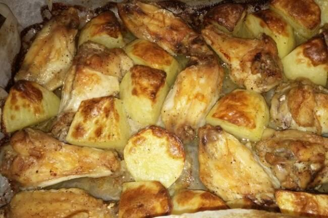 Fırında patatesli kanat tarifi