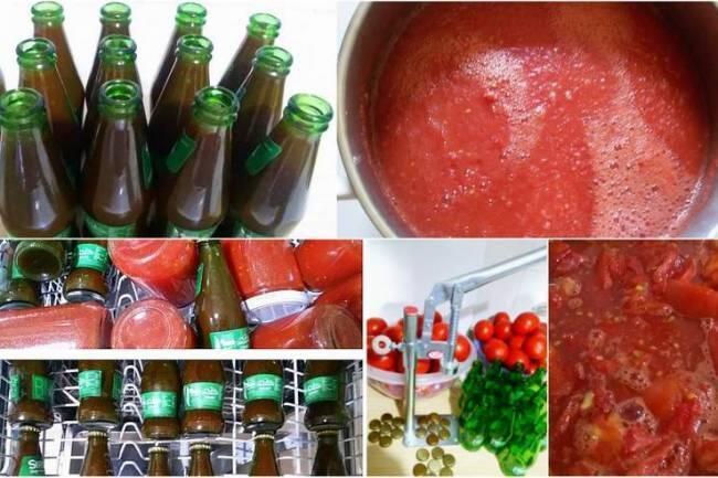Soda şişesinde  domates suyu tarifi