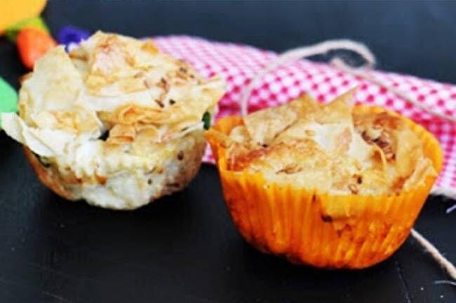 Kırpık muffin börek tarifi