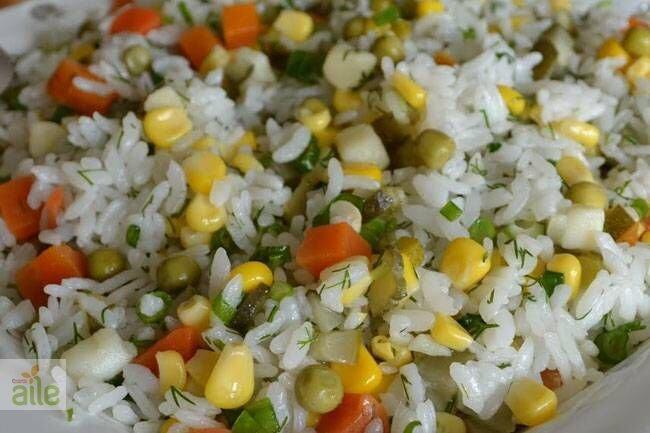 Pirinçli mezgit salatası tarifi