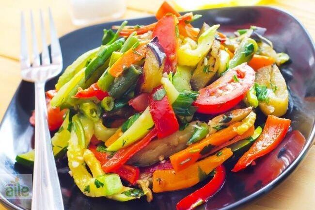 Soslu sebze kızartması tarifi