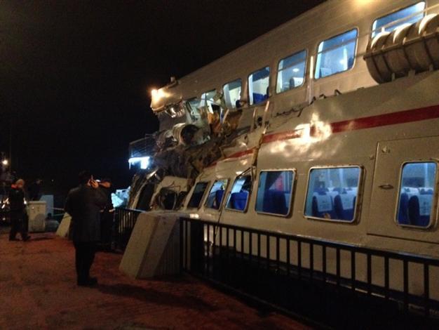 bffb3744b37 Cargo ship crashes into a passenger seabus in the Bosphorus - Turkey ...