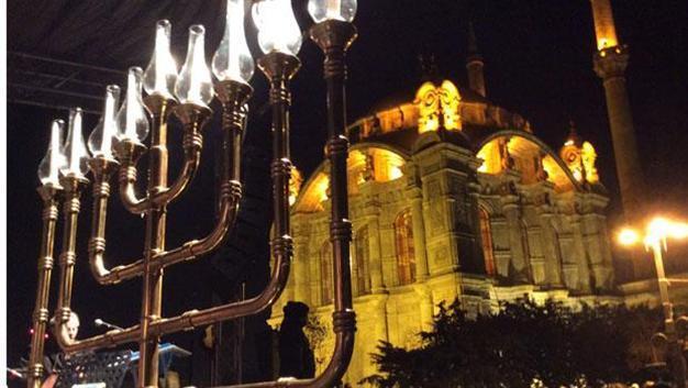 Turkish Jews Light The Menorah During First Public Celebration Of Hanukkah  In Republicu0027s History
