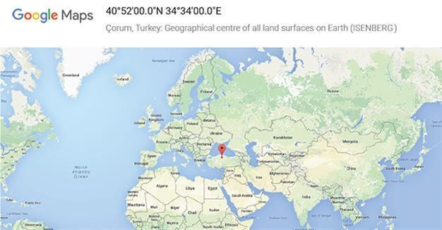 Google marks Turkey's Çorum as center of the Earth   Turkey News