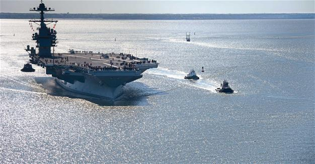 USS Ford is '100,000-ton message to the world' - World News