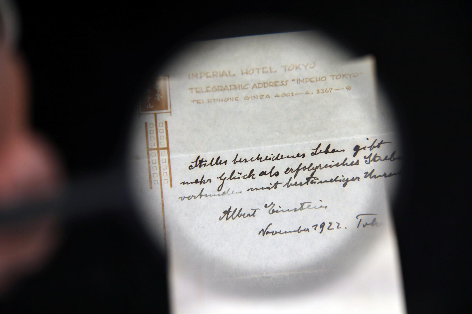 Einsteins Theory Of Happiness Sells For 13M At Auction