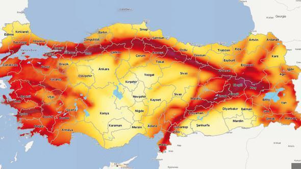 Updates Earthquake Map After Years - Turkey map
