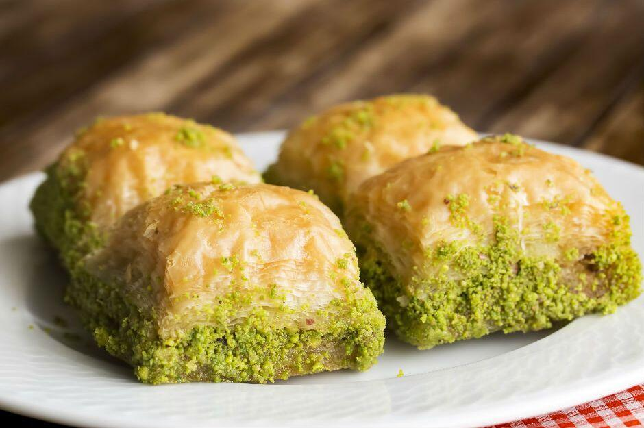 pistachios not to be used in baklava in turkey during ramadan due to