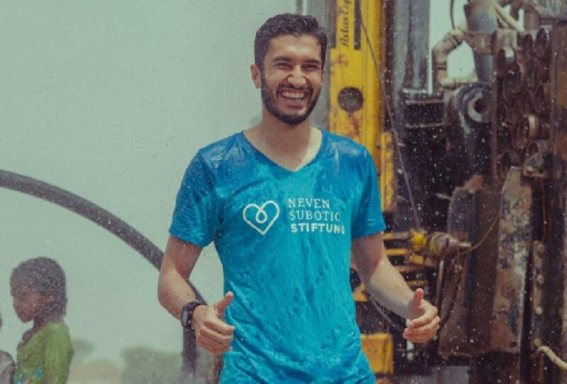 Turkish-German footballer Nuri Şahin opens water wells in Ethiopia