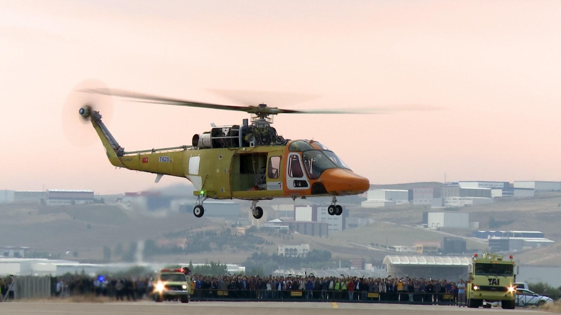 The first flight of the Turkish helicopter T625