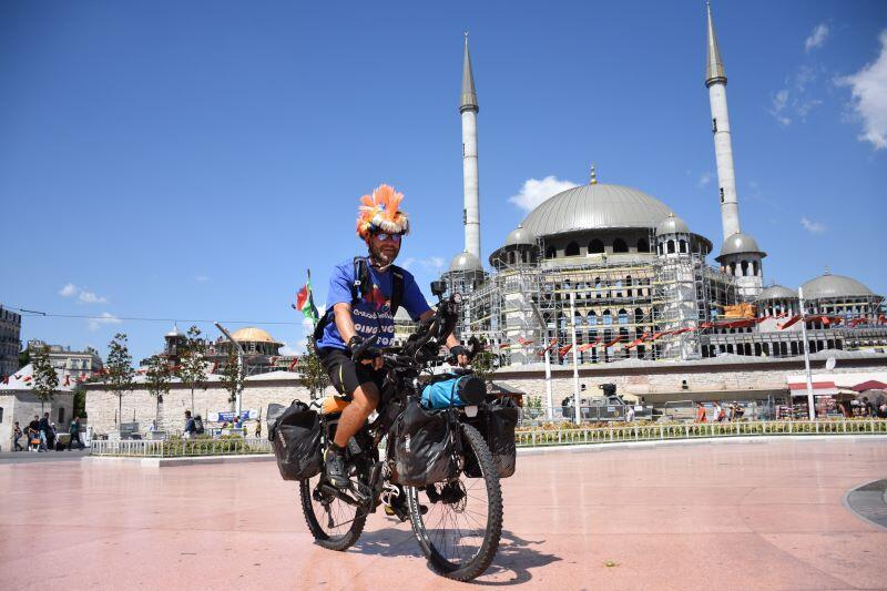 Biker finishes journey from London to Istanbul for autism