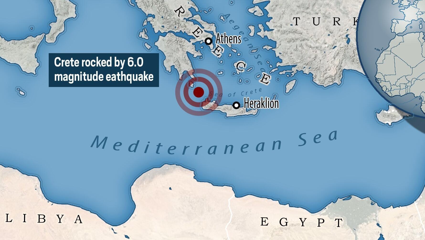 6.0 magnitude earthquake hits Greece