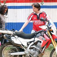 Turkish woman travels across Africa on motorbike