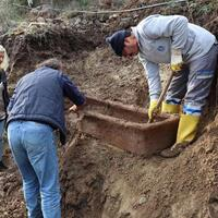 Late Roman tomb found after landslide in Turkey's Bodrum