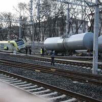 Freight train derails in Ankara suburb