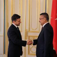Turkish vice president meets Ukraine's new leader