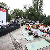 Indian embassy organizes yoga event in Ankara