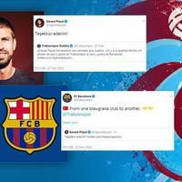 Barcelona's Pique hails Trabzonspor jersey ad