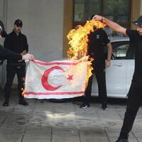 Turkish Cyprus condemns burning of its flag in Greek Cyprus