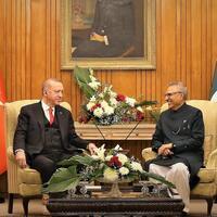 Visiting Turkish president meets Pakistani counterpart