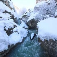 Tohma Canyon under blanket of snow