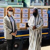 Turkish aid agency distributes food in Ghana