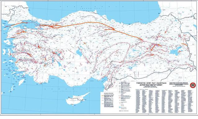 Lines Crisscrossing Turkey - World fault lines